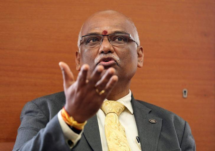 Reserve Bank of India (RBI) Deputy Governor R. Gandhi gestures as he speaks during an interview with Reuters at RBI head office in Mumbai, India May 17, 2016. REUTERS/Shailesh Andrade/Files