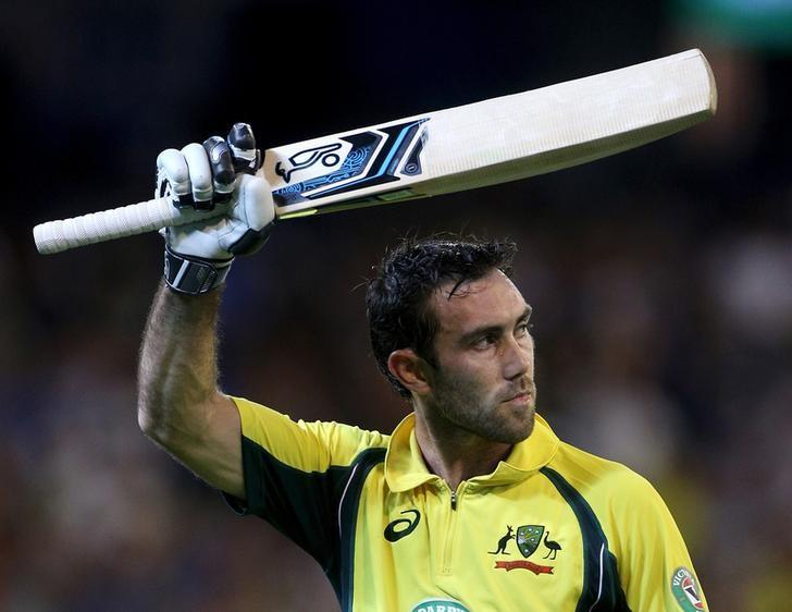 Australia's Glenn Maxwell acknowledges the crowd after being dismissed for 96 against India during their One Day cricket match at the Melbourne Cricket Ground, January 17, 2016. REUTERS/Hamish Blair