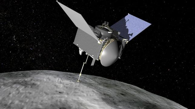 The Origins, Spectral Interpretation, Resource Identification, Security-Regolith Explorer (OSIRIS-REx) spacecraft which will travel to the near-Earth asteroid Bennu and bring a sample back to Earth for study into the origins of life. NASA/Handout via Reuters