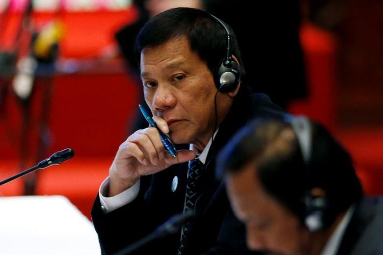 Philippines President Rodrigo Duterte attends the ASEAN-China Summit in Vientiane, Laos September 7, 2016. REUTERS/Soe Zeya Tun