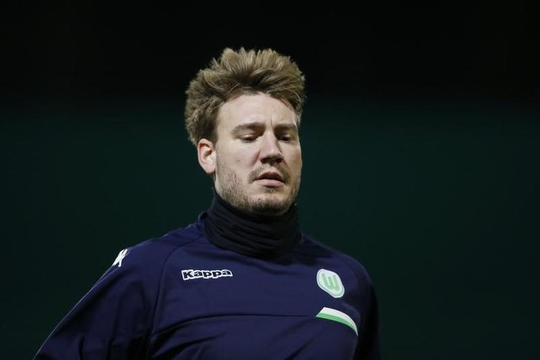 Football Soccer - VfL Wolfsburg Training - VfL Wolfsburg Training Ground, Wolfsburg, Germany - 7/12/15Nicklas Bendtner during trainingAction Images via Reuters / Carl RecineLivepic