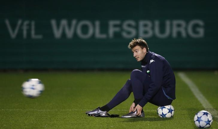 Football Soccer - VfL Wolfsburg Training - VfL Wolfsburg Training Ground, Wolfsburg, Germany - 7/12/15VfL Wolfsburg's Nicklas Bendtner during trainingAction Images via Reuters / Carl RecineLivepic/Files