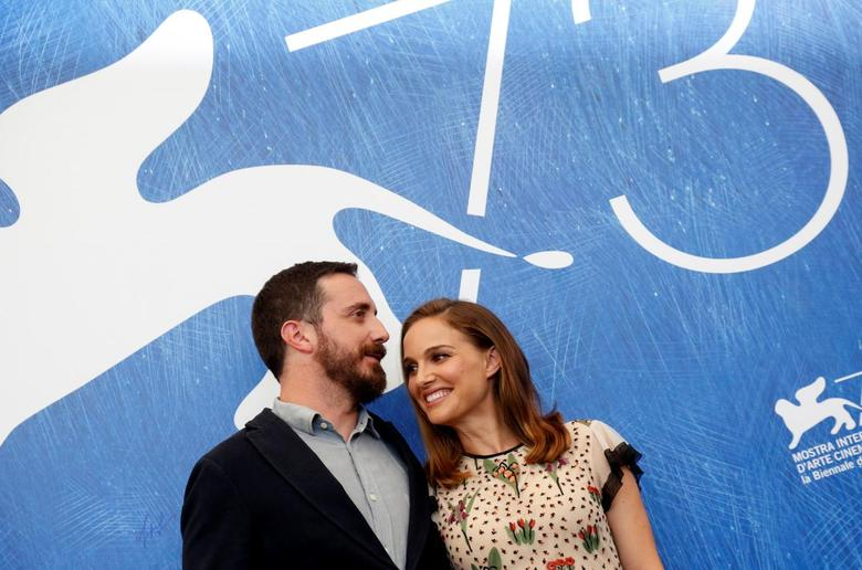Director Pablo Larrain (L) poses with actress Natalie Portman as they attend the photocall for the movie ''Jackie'' at the 73rd Venice Film Festival in Venice, Italy September 7, 2016.  REUTERS/Alessandro Bianchi