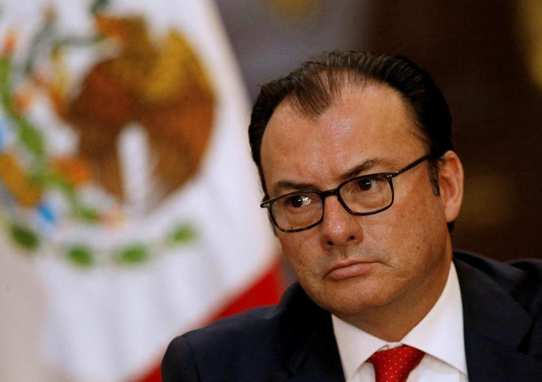 Mexican Finance Minister Luis Videgaray listens during a news conference at the National Palace in Mexico City, Mexico, June 24, 2016. REUTERS/Henry Romero/File Photo