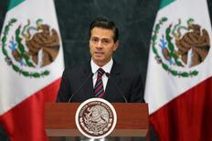 Peña Nieto faz discurso para anunciar mudança em ministério.  7/9/2016. REUTERS/Edgard Garrido