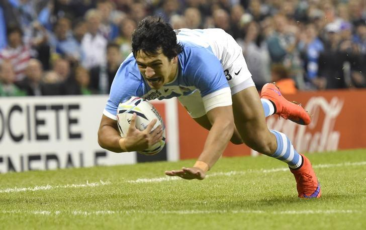 Rugby Union - Ireland v Argentina - IRB Rugby World Cup 2015 Quarter Final - Millennium Stadium, Cardiff, Wales - 18/10/15Argentina's Matias Moroni scores their first try Reuters / Toby MelvilleLivepic