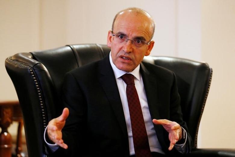 Turkey's Deputy Prime Minister Mehmet Simsek speaks during an interview with Reuters in Ankara, Turkey, June 15, 2016. REUTERS/Umit Bektas