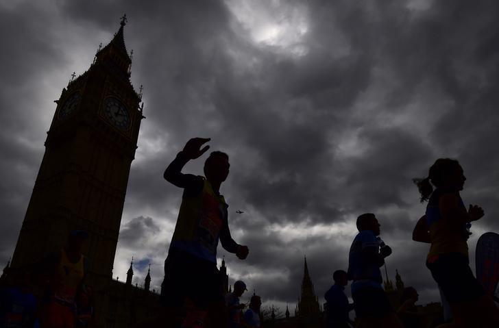 Athletics - 2016 Virgin Money London Marathon - London - 24/4/16General view of Big Ben and the Houses of Parliament during the marathon Reuters / Toby MelvilleLivepic/Files