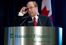 Manulife Financial President and Chief Executive Officer Donald Guloien speaks at their annual general meeting for shareholders in Toronto, May 6, 2010.  REUTERS/Mark Blinch