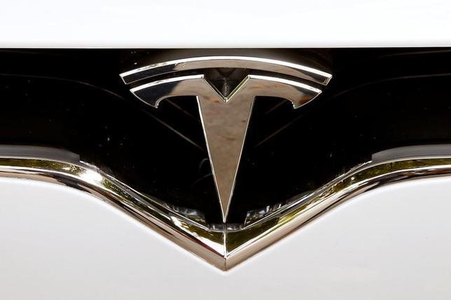 The company's logo is seen at a Model X car of U.S. manufacturer Tesla in Zurich, Switzerland August 17, 2016    REUTERS/Arnd Wiegmann