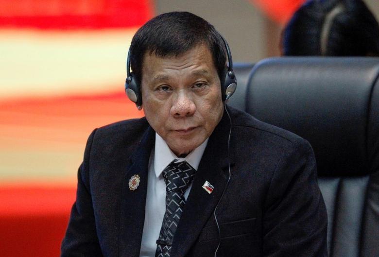 Philippines President Rodrigo Duterte attends the ASEAN Summit in Vientiane, Laos September 7, 2016. REUTERS/Soe Zeya Tun
