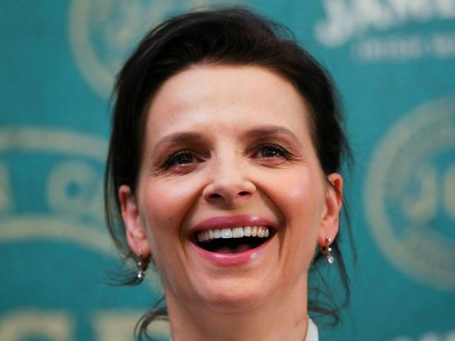 French actress Juliette Binoche attends a photo call during a film festival in Lillafured, Hungary, September 9, 2016. REUTERS/Laszlo Balogh