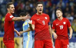 Lewandowski comemora gol  4/9/16  REUTERS/Shamil Zhumatov