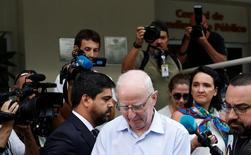 Ex-presidente do Comitê Olímpico da Irlanda Patrick Hickey deixa delegacia no Rio de Janeiro 06/09/2016 REUTERS/Ricardo Moraes