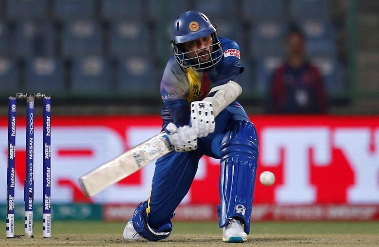 Cricket - South Africa v Sri Lanka - World Twenty20 cricket tournament - New Delhi, India - 28/03/2016. Sri Lanka's Tillakaratne Dilshan plays a shot.  REUTERS/Adnan Abidi