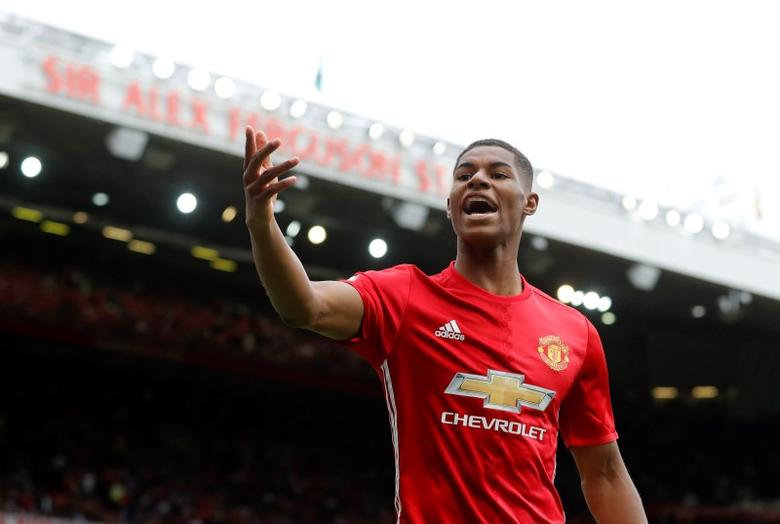 Britain Soccer Football - Manchester United v Manchester City - Premier League - Old Trafford - 10/9/16Manchester United's Marcus Rashford Action Images via Reuters / Carl Recine