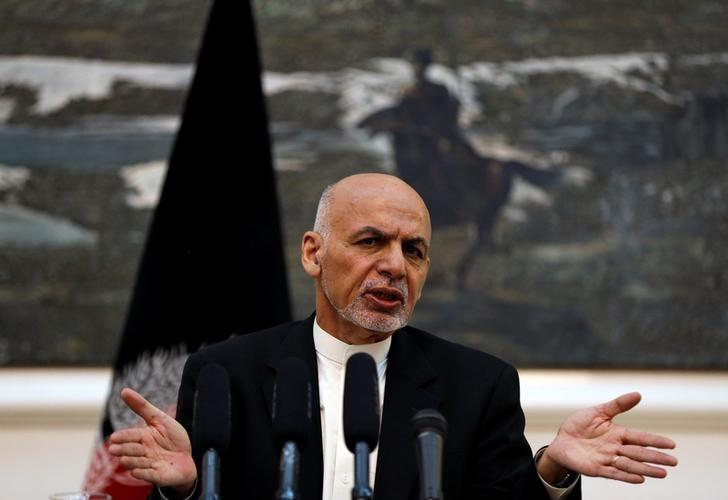 Afghanistan's President Ashraf Ghani speaks during a news conference in Kabul, Afghanistan July 11, 2016. REUTERS/Omar Sobhani/Files