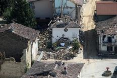 Prédios destruídos após terremoto na cidade de Amatrice, Itália.     01/09/2016          REUTERS/Stefano Rellandini