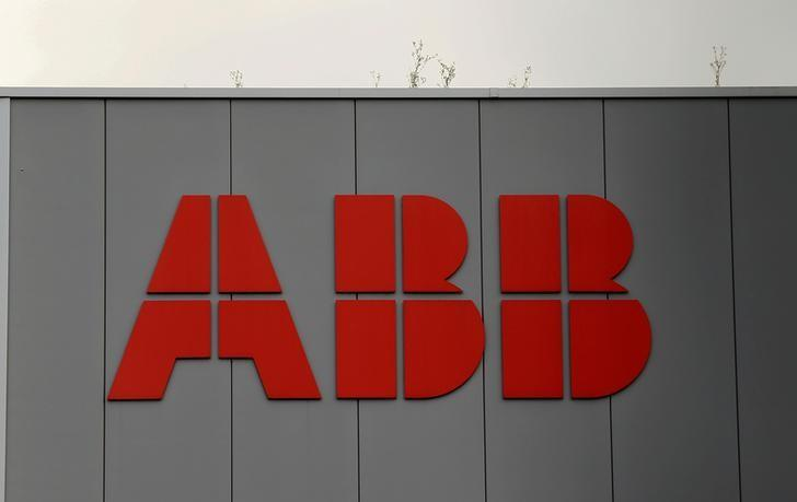 The logo of Swiss engineering group ABB is seen at a plant in Zurich, Switzerland July 21, 2016.     REUTERS/Arnd Wiegmann/Files