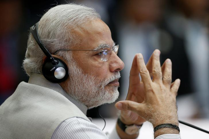 Prime Minister Narendra Modi attends the ASEAN-India Summit in Vientiane, Laos September 8, 2016. REUTERS/Soe Zeya Tun