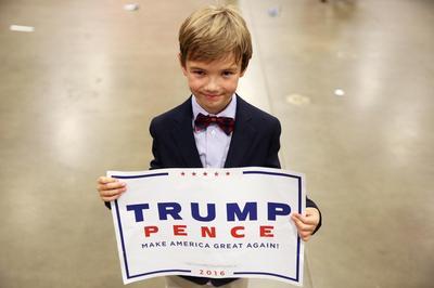 Children at Trump rallies