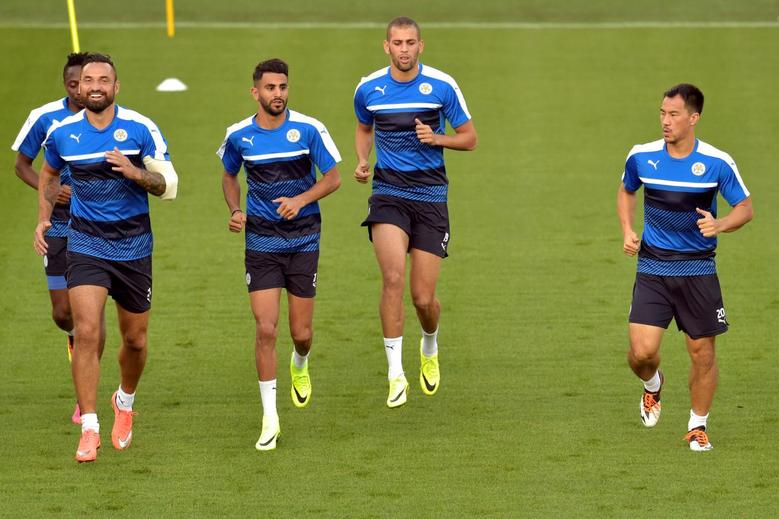 Football Soccer - Leicester City FC Training - Champions League - Jan Breydel Stadium - Bruges, Belgium - 13/09/16. Leicester City FC's players attend a training session. REUTERS/Eric Vidal