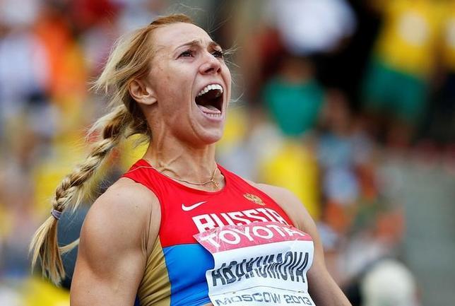 9月13日、国際オリンピック委員会(IOC)は、2008年北京五輪女子やり投げ銀メダルのマリア・アバクモワが保存されていた検体の再検査で禁止薬物の陽性反応を示したため、メダルを剥奪したと発表した。モスクワで2013年8月撮影(2016年 ロイター/Dominic Ebenbichler)