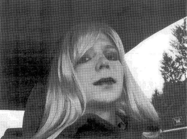 U.S. soldier Chelsea Manning, who was born male but identifies as a woman, imprisoned for handing over classified files to pro-transparency site WikiLeaks, is pictured dressed as a woman in this 2010 photograph obtained on August 14, 2013.Courtesy U.S. Army/Handout via REUTERS