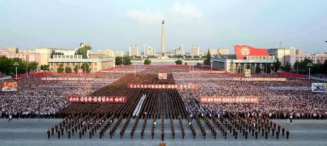 A rally celebrating the success of a recent nuclear test is held in Kim Il Sung square in this undated photo released by North Korea's Korean Central News Agency (KCNA) in Pyongyang September 13, 2016.   KCNA/via Reuters