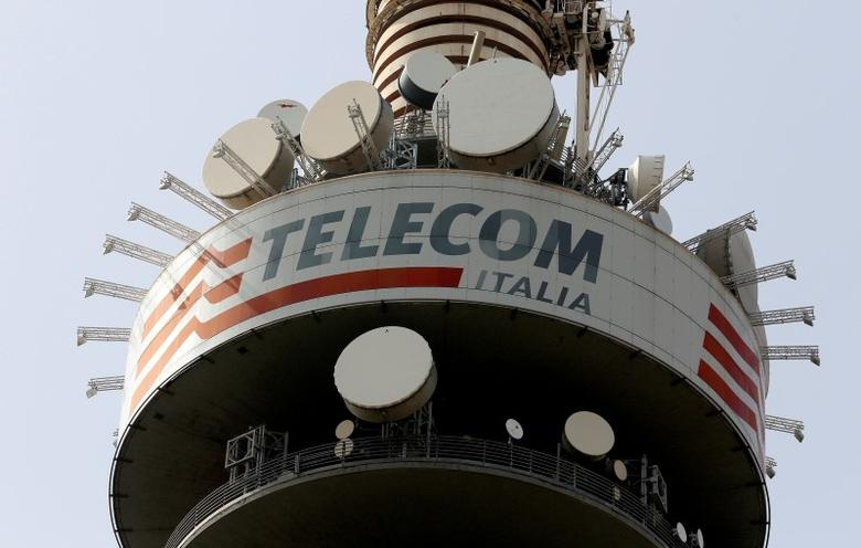 A Telecom Italia tower is pictured in Rome, Italy March 22, 2016. REUTERS/Stefano Rellandini/File Photo