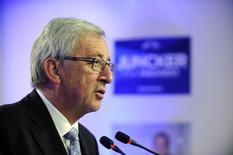 Жан-Клод Юнкер делает заявление о промежуточных итогах евроепйских выборов в Брюсселе. Глава Еврокомиссии Жан-Клод Юнкер в среду попытался обеспечить поддержку для Европейского союза, сказав, что блок, пострадавший из-за решения Великобритании выйти из его состава, не находится на грани распада, несмотря на экзистенциальный кризис. REUTERS/Eric Vidal (BELGIUM - Tags: POLITICS ELECTIONS)