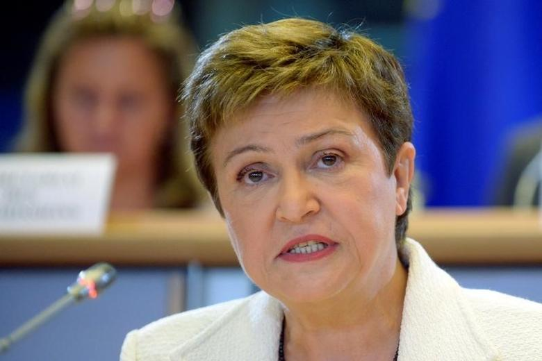 Budget and Human Resources European Commissioner-designate Kristalina Georgieva of Bulgaria addresses the European Parliament's Committee on Budgets, at the EU Parliament in Brussels October 2, 2014.  REUTERS/Eric Vidal/File Photo