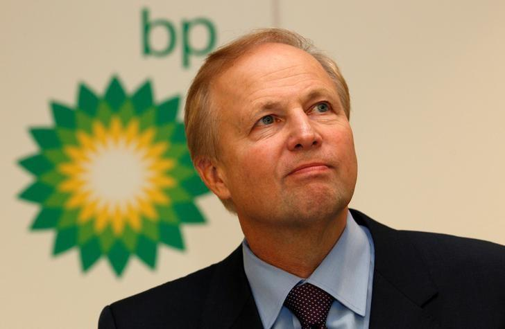 BP's Chief Executive Bob Dudley speaks to the media after year-end results were announced at the energy company's headquarters in London February 1, 2011. REUTERS/Suzanne Plunkett/File Photo - RTSFKM6