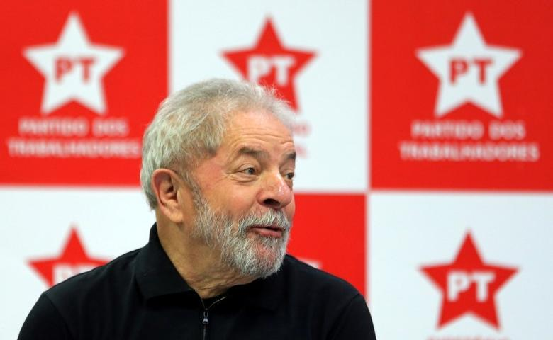 Brazil's former President Luiz Inacio Lula da Silva looks on as he attends a meeting with members of the Workers Party (PT) in Sao Paulo, Brazil September 2, 2016. REUTERS/Paulo Whitaker