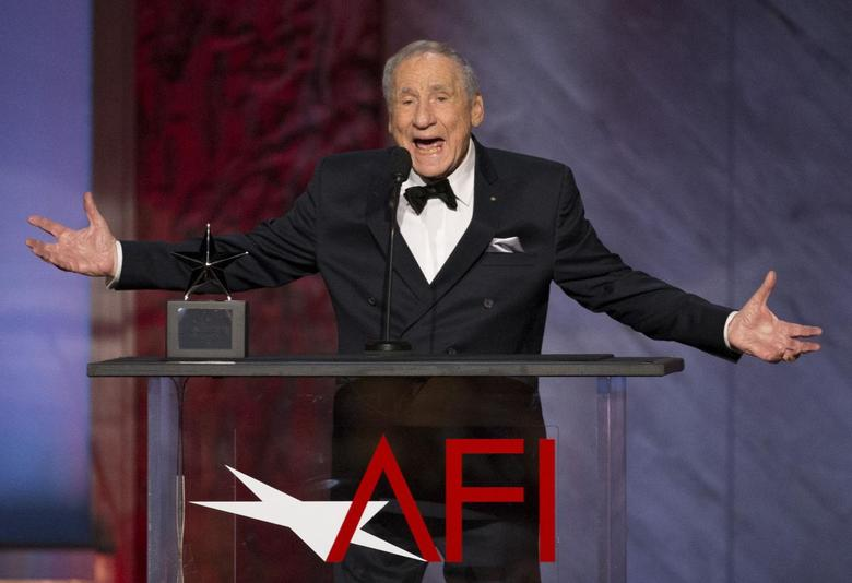 Producer Mel Brooks speaks at the American Film Institute's 43rd Life Achievement Award at the Dolby theatre in Hollywood, California, U.S. June 4, 2015. REUTERS/Mario Anzuoni/File Photo