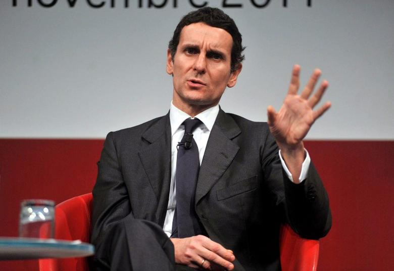 Marco Morelli gestures during a meeting in Milan November 11, 2011.  Picture taken November 11, 2011.   REUTERS/Imagoeconomica