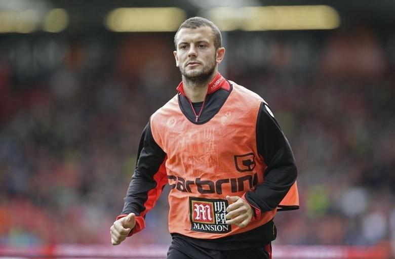 Bournemouth's Jack Wilshere warms up on the sidelinesAction Images via Reuters / Henry BrowneLivepic