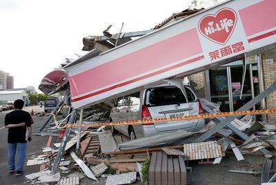 Typhoon Meranti strikes