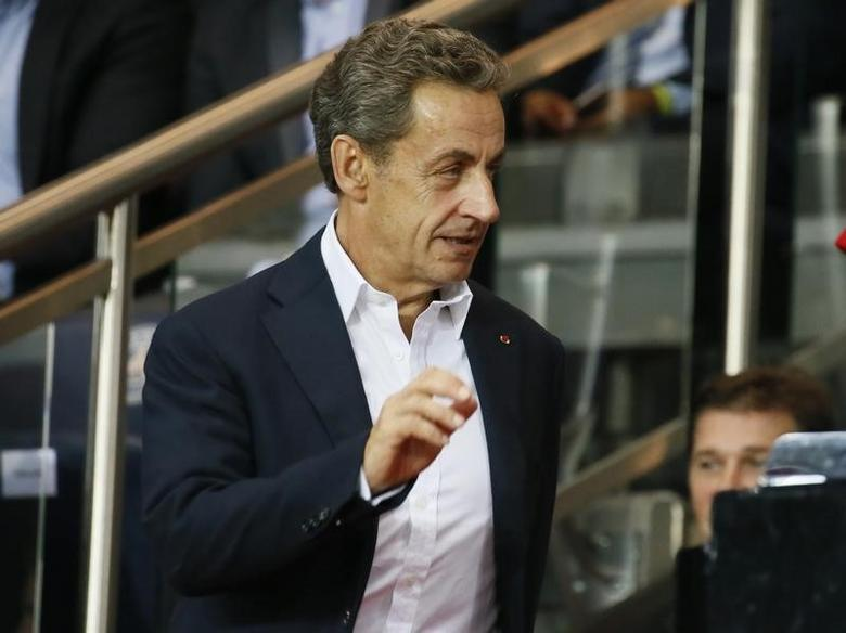 Football Soccer - Paris Saint-Germain v Arsenal - UEFA Champions League Group Stage - Group A - Parc des Princes, Paris, France - 13/9/16Former French President Nicolas Sarkozy in the standsReuters / Gonzalo FuentesLivepic