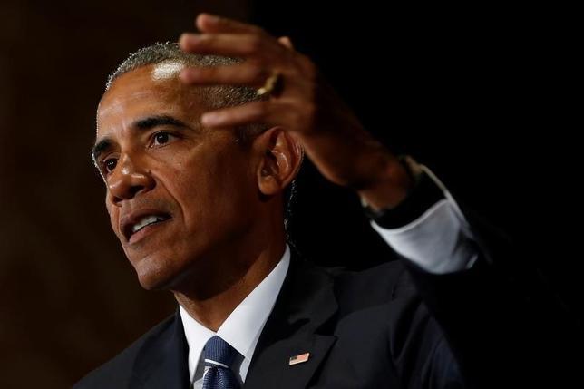 9月15日、オバマ米大統領は16日早くに大手企業や州政府のトップを集め、環太平洋連携協定(TPP)の経済および安全保障上の利点について話し合う。ホワイトハウスが発表した。写真は浙江省杭州市で5日に撮影(2016年 ロイター/Jonathan Ernst)