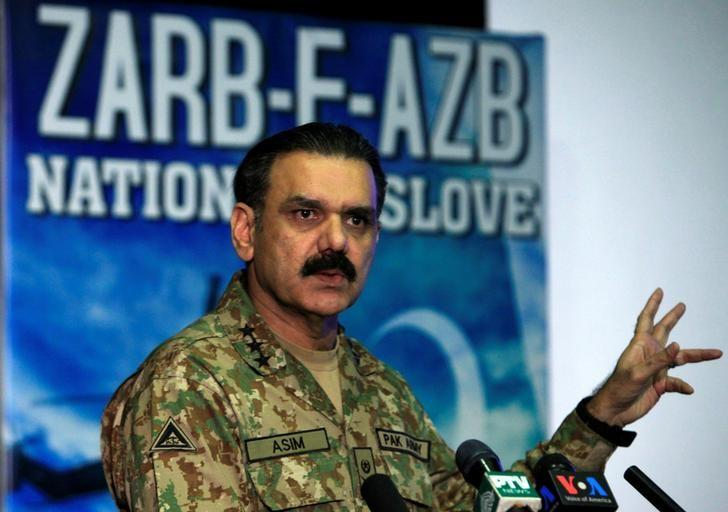 Lieutenant General Asim Bajwa, the military's top spokesman speaks during a news conference in Rawalpindi, Pakistan, September 1, 2016. REUTERS/Faisal Mahmood/Files