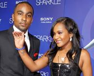 Bobbi Kristina Brown chega para evento com o namorado Nick Gordon em Hollywood. 16/8/2012.   REUTERS/Fred Prouser/File photo