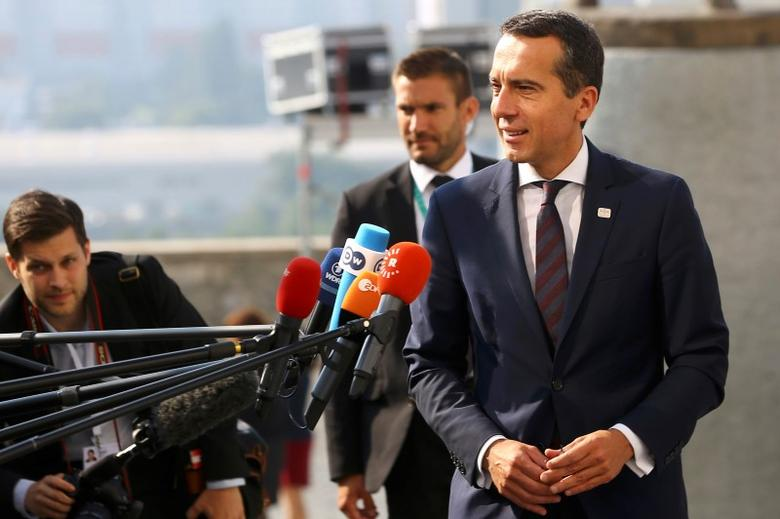 Austria's Chancellor Christian Kern arrives for the European Union summit- the first one since Britain voted to quit- in Bratislava, Slovakia, September 16, 2016. REUTERS/Leonhard Foeger
