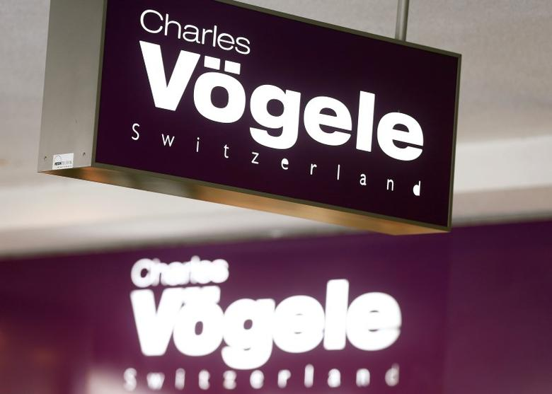 The logo of Swiss fashion company Charles Voegele is seen outside a store in Bern, Switzerland May 2, 2016. REUTERS/Ruben Sprich