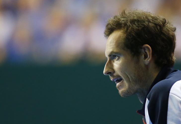 Tennis Britain - Great Britain v Argentina - Davis Cup Semi Final - Emirates Arena, Glasgow, Scotland - 18/9/16Great Britain's Andy Murray looks on during Dan Evans' match against Argentina's Leonardo Mayer Action Images via Reuters / Andrew BoyersLivepic