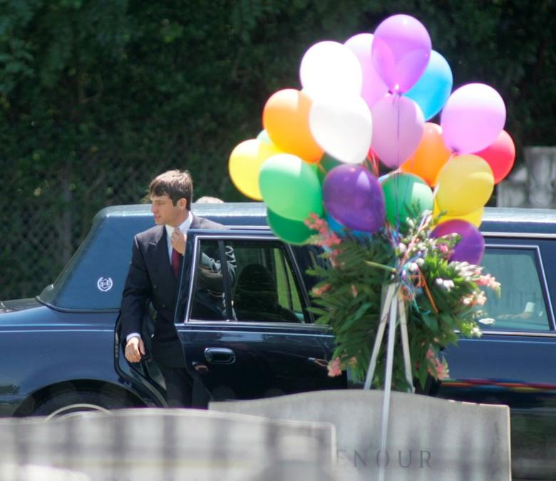 FILE PHOTO - Burke Ramsey, brother of slain beauty pageant contestant JonBenet Ramsey, arrives for the burial service of his mother Patsy Ramsey in Marietta, Georgia on June 29, 2006.  REUTERS/Tami Chappell/File Photo