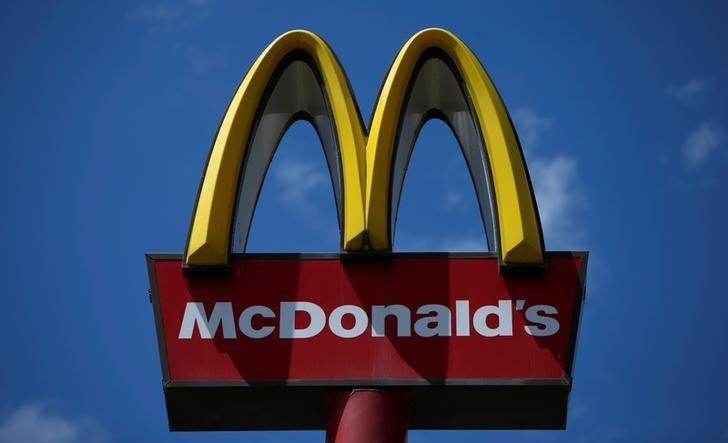 The McDonald's logo is seen in Tbilisi, Georgia, June 8, 2016. REUTERS/David Mdzinarishvili
