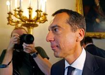 Austrian Chancellor Christian Kern arrives for a cabinet meeting in Vienna, Austria August 30, 2016. REUTERS/Heinz-Peter Bader