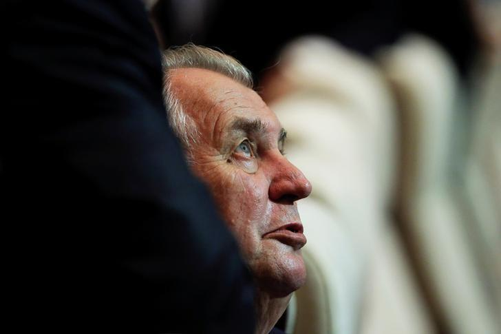 Czech Republic's President Milos Zeman prepares for the opening session of the Asia-Europe Meeting (ASEM) summit in Ulaanbaatar, Mongolia, July 15, 2016.   REUTERS/Damir Sagolj/File Photo