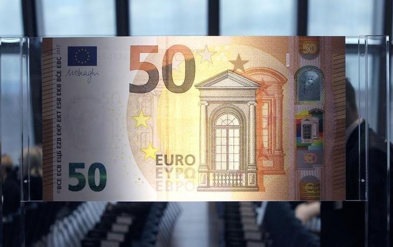 2016年7月5日,50欧元面值的欧元纸币。REUTERS/Ralph Orlowski